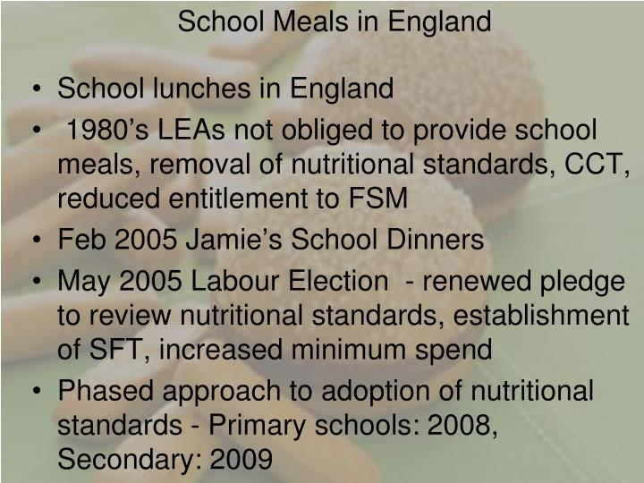 School Meals in England