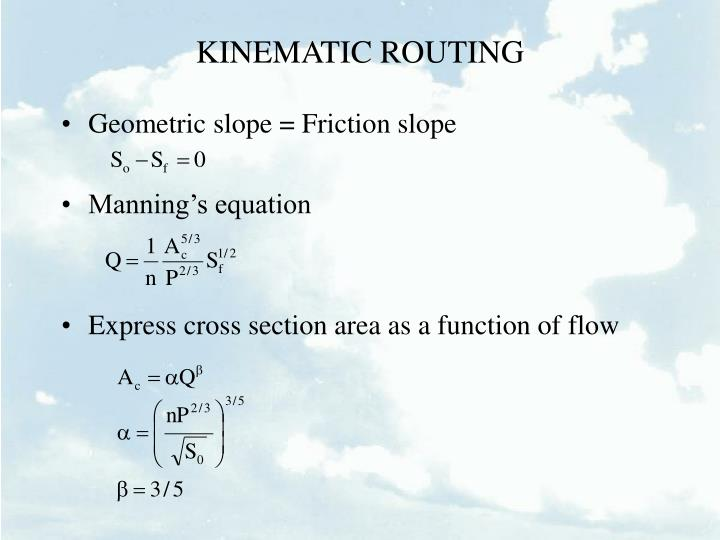 KINEMATIC ROUTING