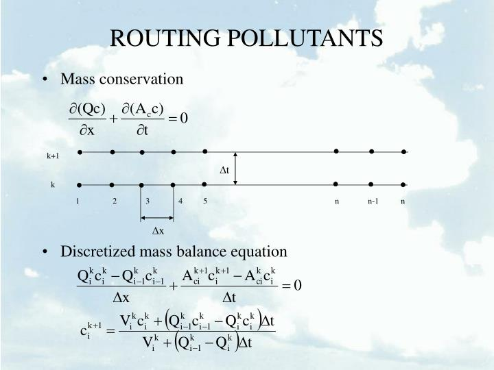 ROUTING POLLUTANTS