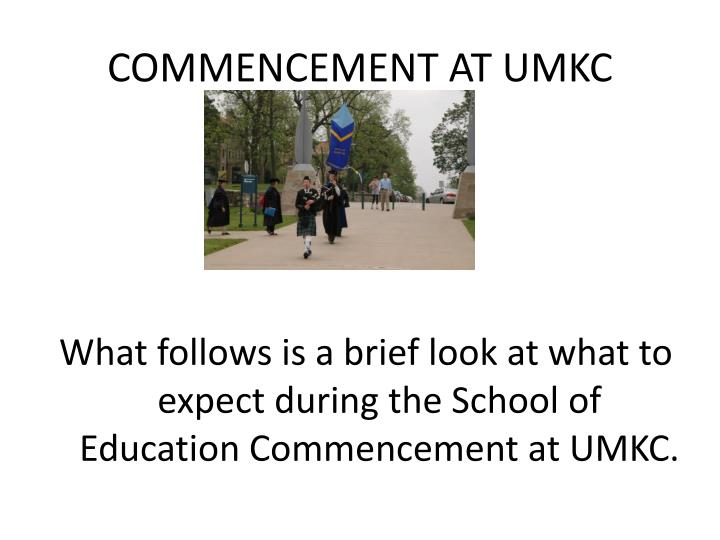 Commencement at umkc