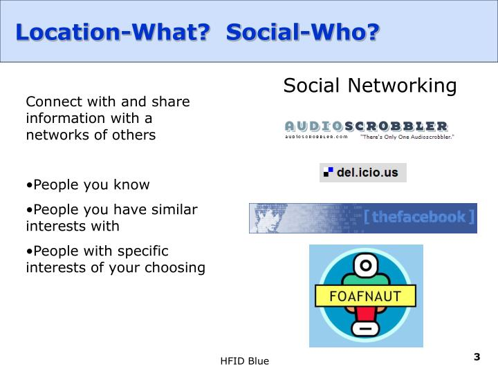 Location what social who1