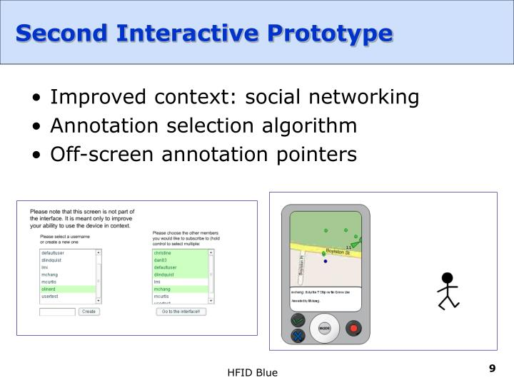 Second Interactive Prototype