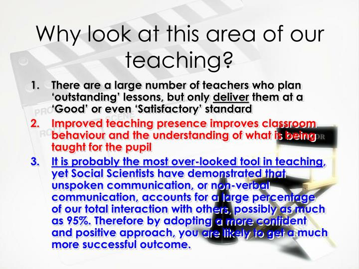 Why look at this area of our teaching?