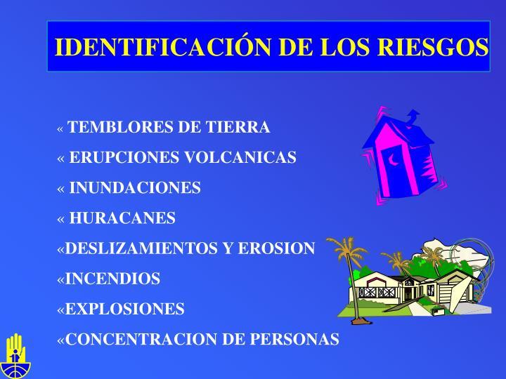 IDENTIFICACIÓN DE LOS RIESGOS