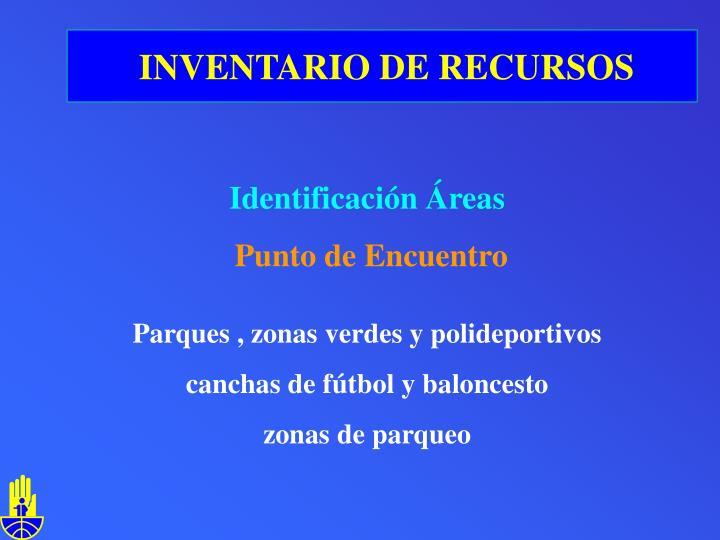 INVENTARIO DE RECURSOS