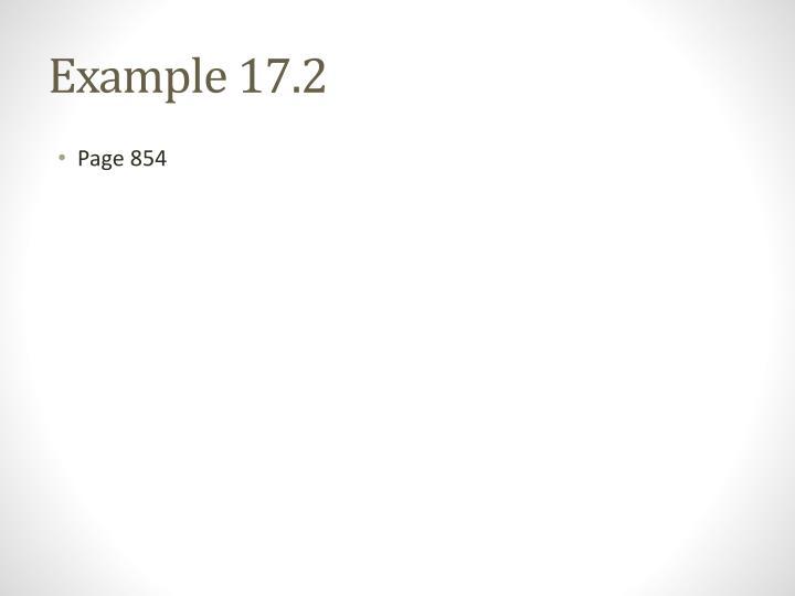 Example 17.2