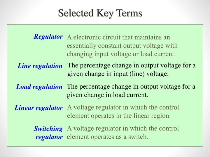 Selected Key Terms
