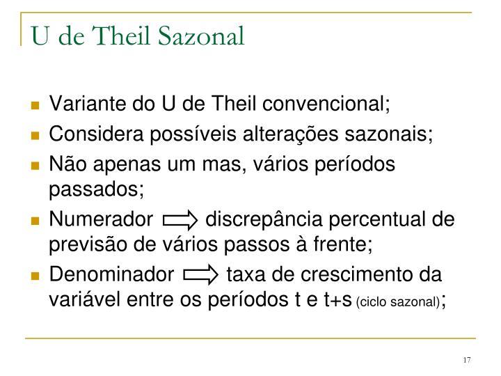 U de Theil Sazonal