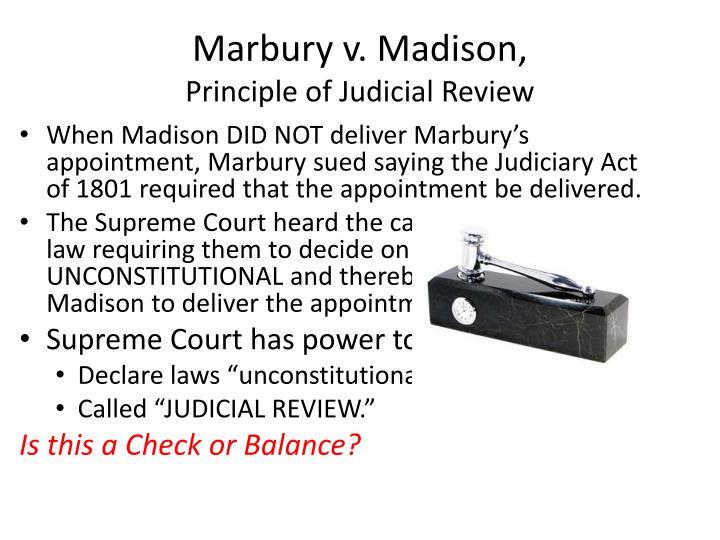 Marbury v. Madison,