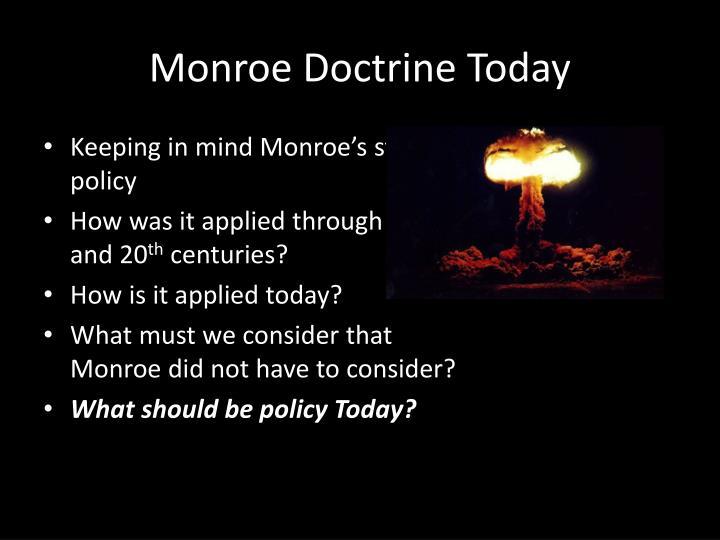 Monroe Doctrine Today