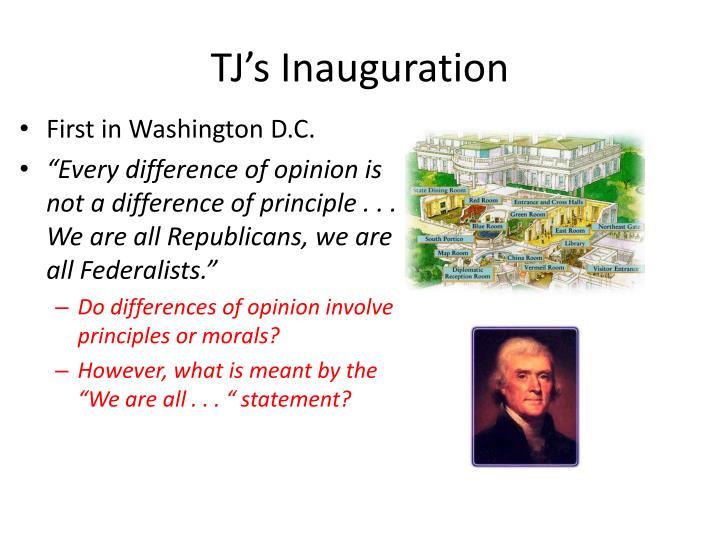 TJ's Inauguration