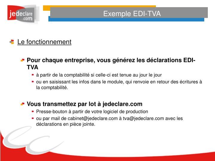 Exemple EDI-TVA