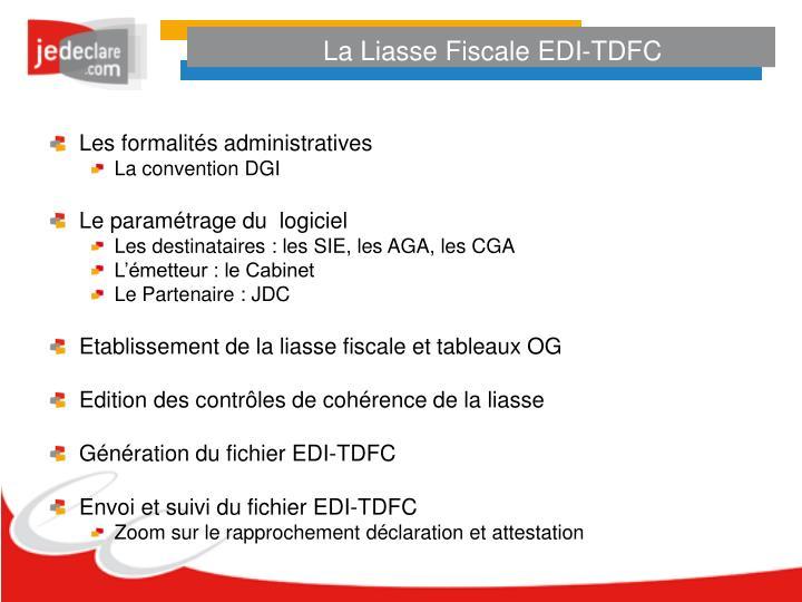 La Liasse Fiscale EDI-TDFC