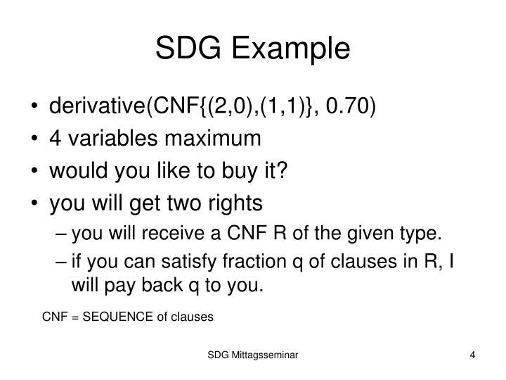 SDG Example