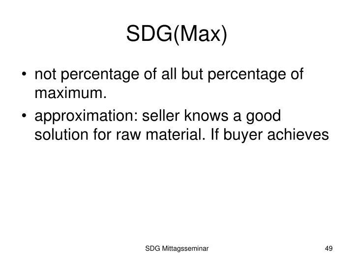 SDG(Max)