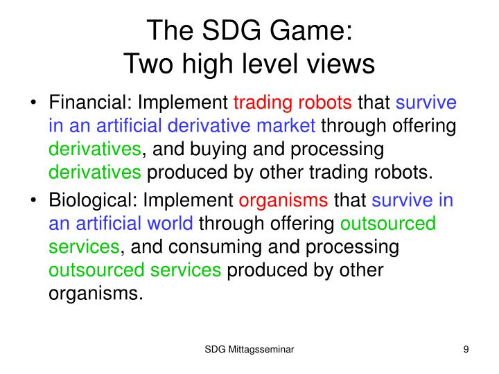 The SDG Game: