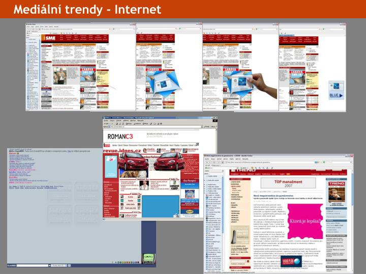 Mediální trendy - Internet