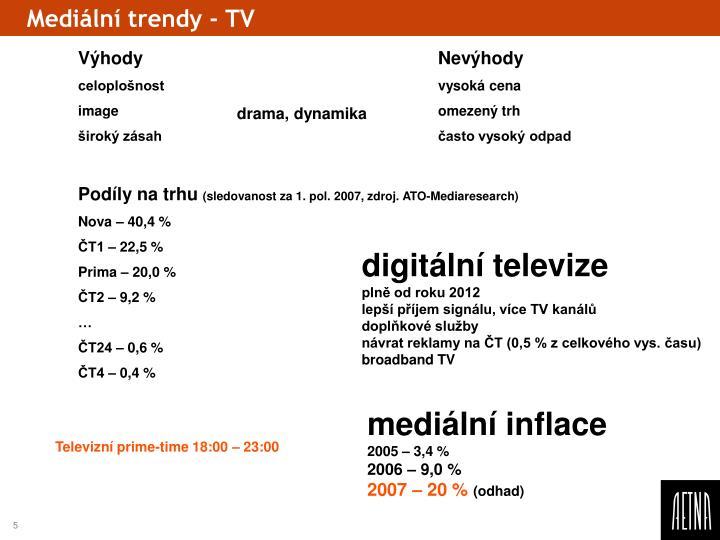Mediální trendy - TV