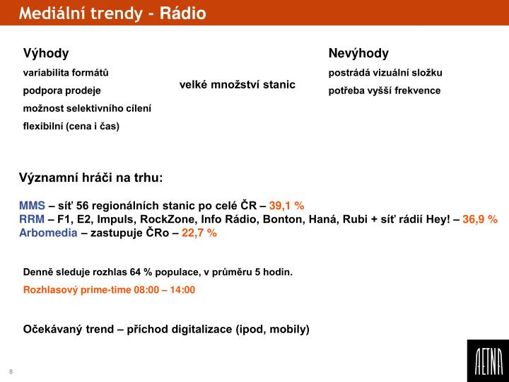 Mediální trendy -