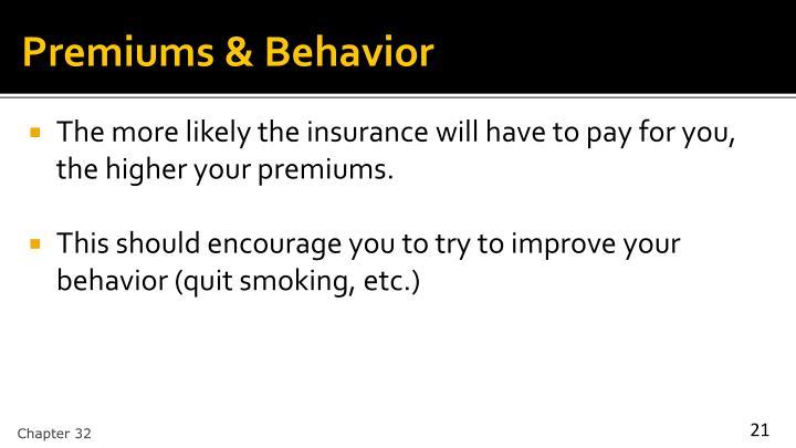 Premiums & Behavior