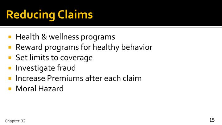 Reducing Claims