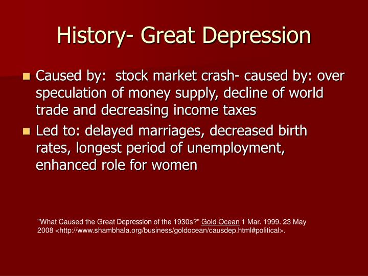 History great depression