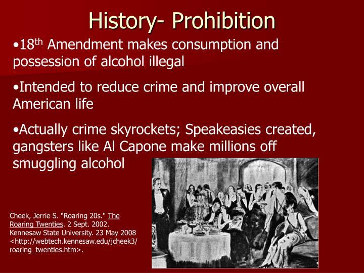 History- Prohibition