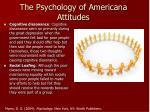 the psychology of americana attitudes