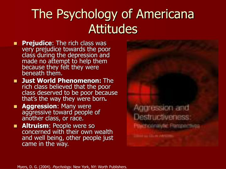 The Psychology of Americana Attitudes