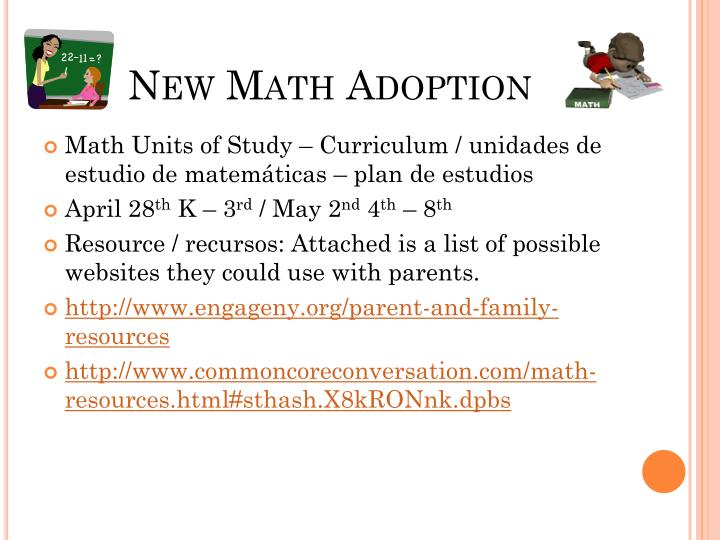 New Math Adoption