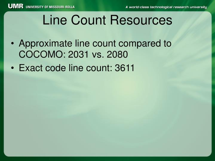 Line Count Resources