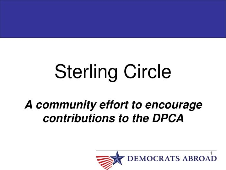 Sterling circle