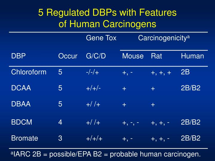 5 Regulated DBPs with Features