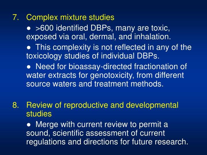 Complex mixture studies