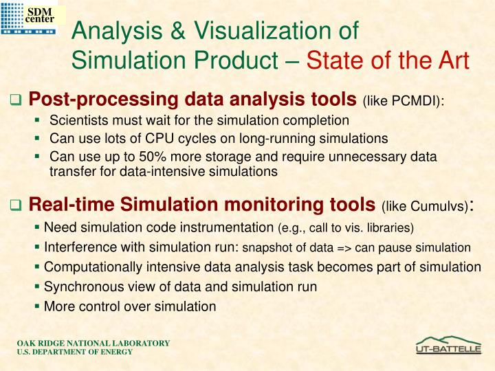 Analysis & Visualization of Simulation Product –