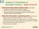 analysis visualization of simulation product state of the art