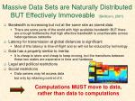 massive data sets are naturally distributed but effectively immoveable skillicorn 2001