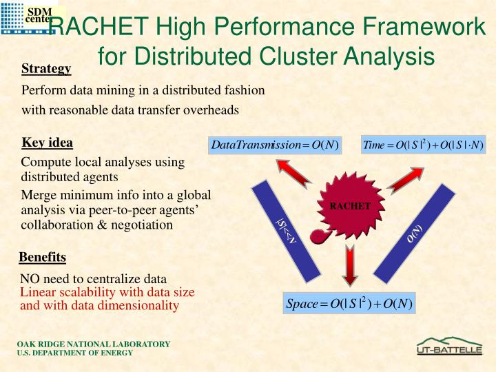 RACHET High Performance Framework for Distributed Cluster Analysis
