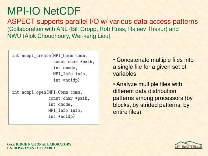MPI-IO NetCDF