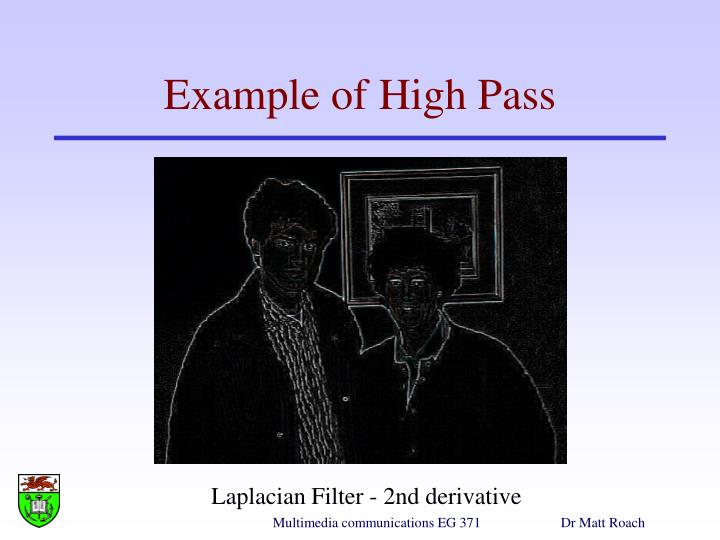 Example of High Pass