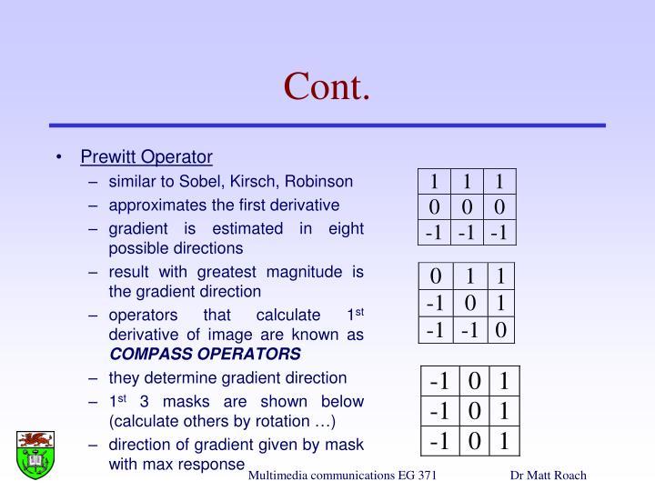 Prewitt Operator