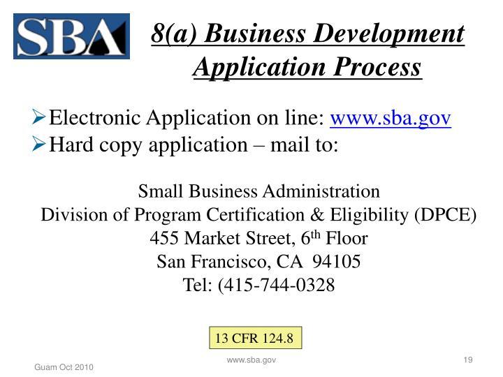 8(a) Business Development Application Process