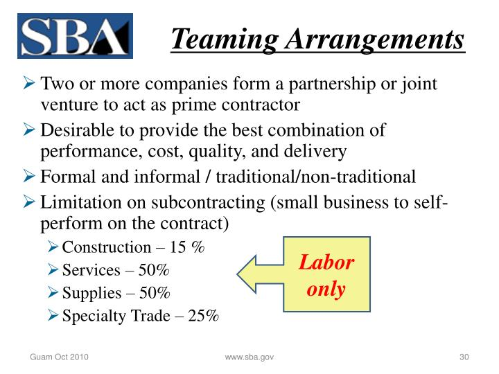 Teaming Arrangements