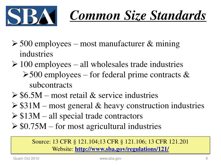 Common Size Standards