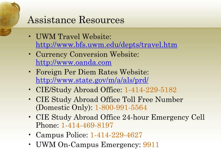 Assistance Resources