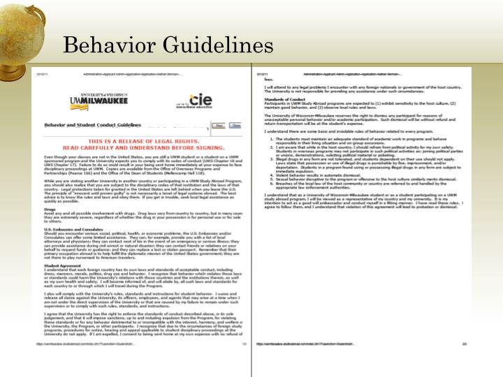 Behavior Guidelines
