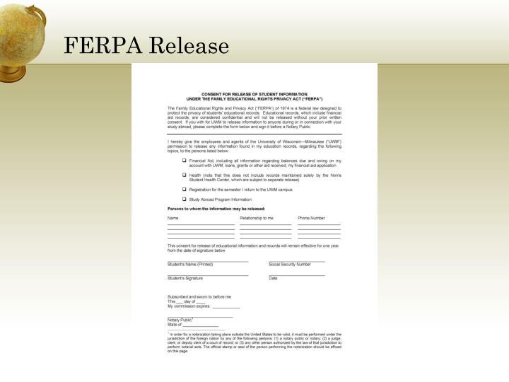 FERPA Release