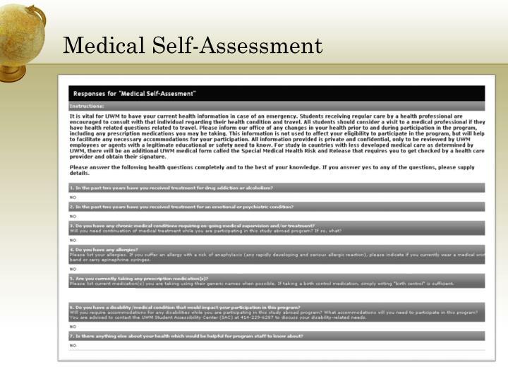 Medical Self-Assessment