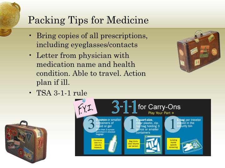 Packing Tips for Medicine