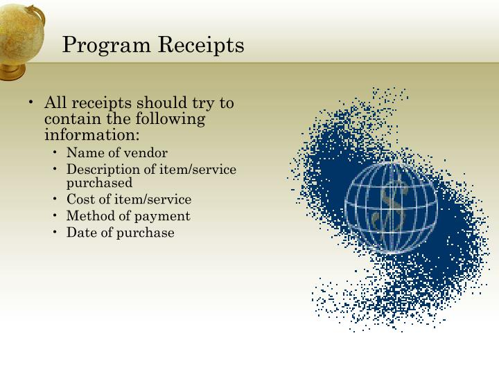 Program Receipts